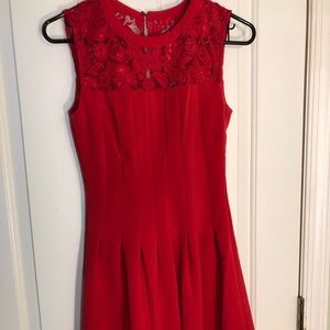 H&M NWT Red mini dress with lace 6